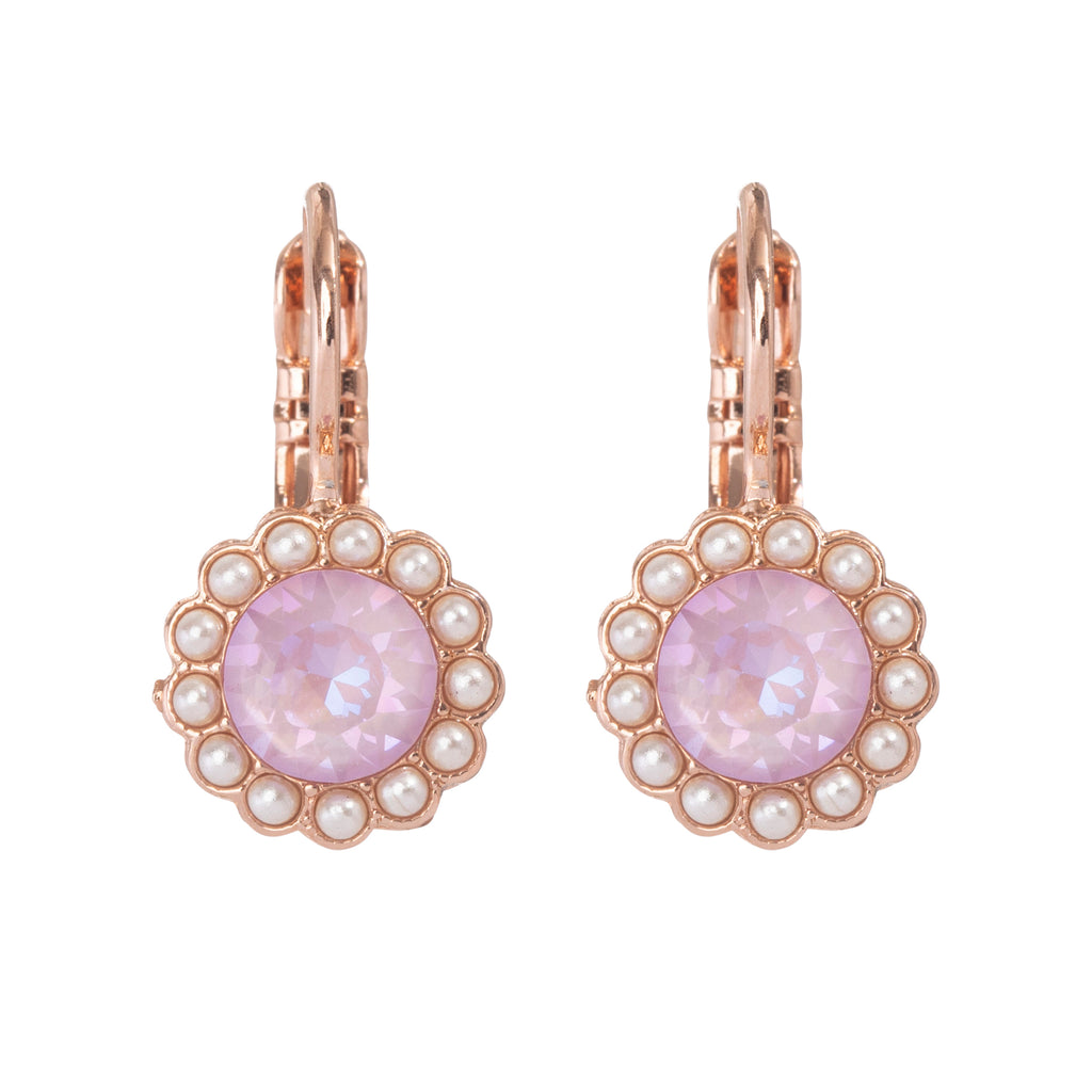 "Must-Have Rosette Leverback Earrings in ""Romance"" *Preorder*"