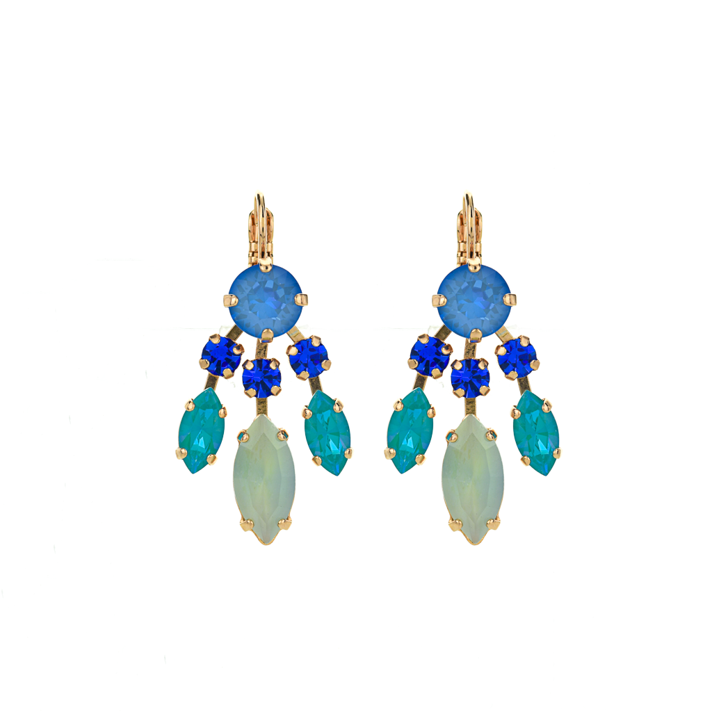 "Marquise and Round Dangle Leverback Earrings in ""Serenity"" *Preorder*"