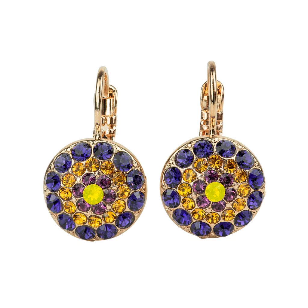 "Pavé Leverback Earrings in ""Holiday Lights"" *Preorder*"