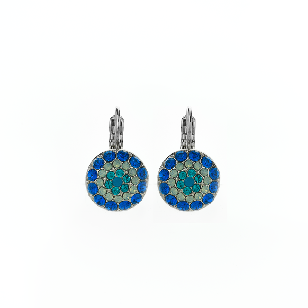 "Pave Leverback Earrings in ""Serenity"" *Preorder*"