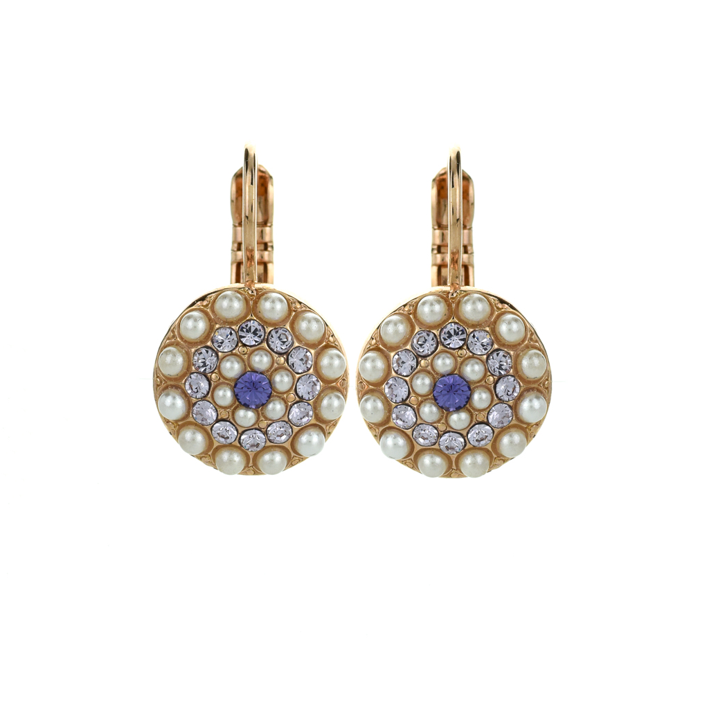 "Pave Leverback Earrings in ""Romance"" *Preorder*"