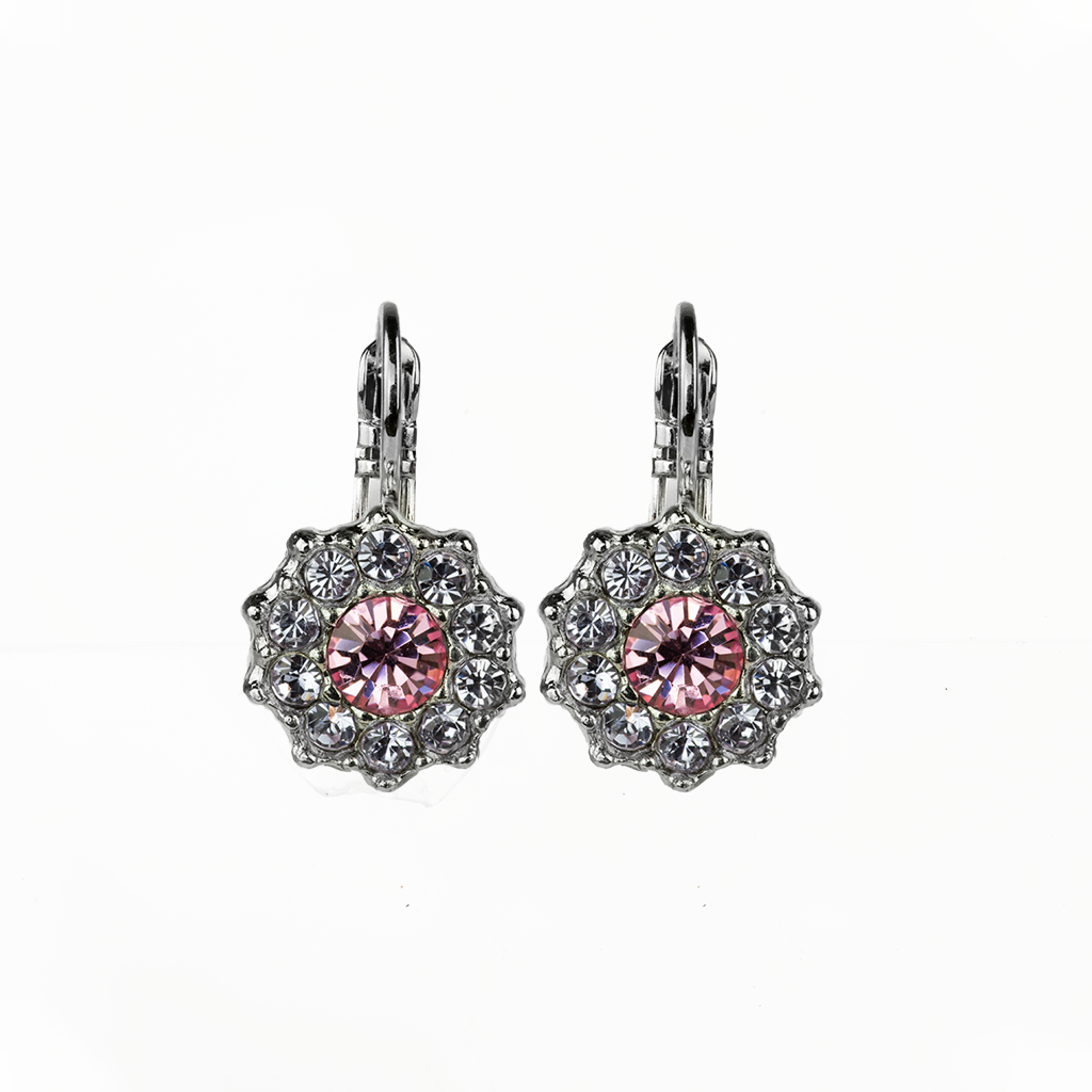 "Lovable Rosette Leverback Earrings in ""Travelara"" *Preorder*"