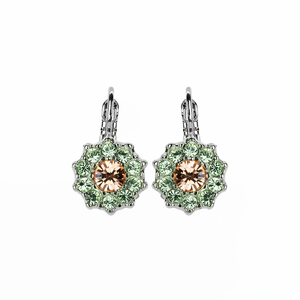 "*Preorder* Lovable Rosette Leverback Earrings in ""Monarch"""