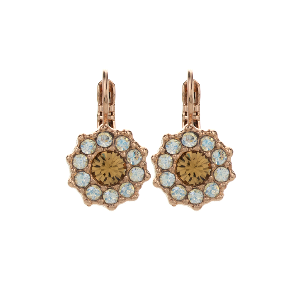 "Lovable Rosette Leverback Earrings in ""Peace"" *Preorder*"