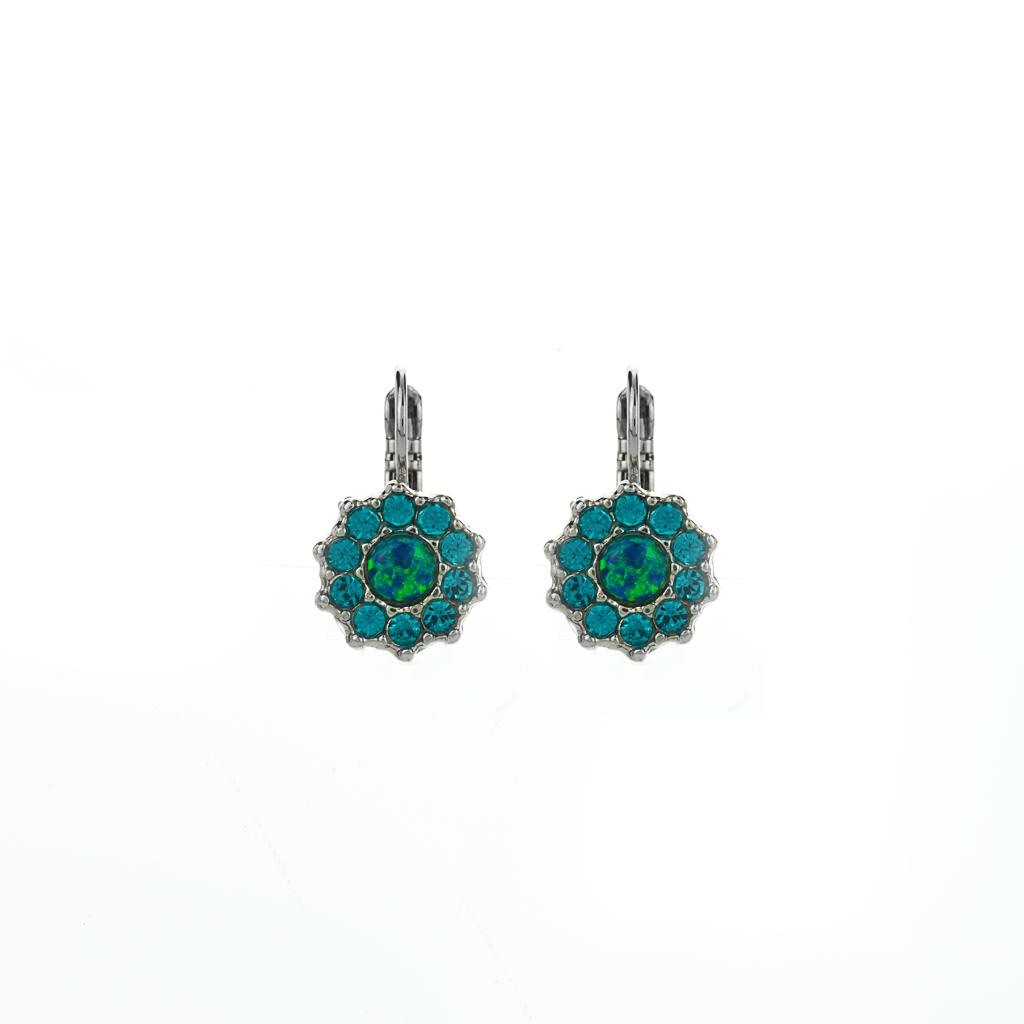 "Lovable Rosette Leverback Earrings in ""Serenity"" *Preorder*"