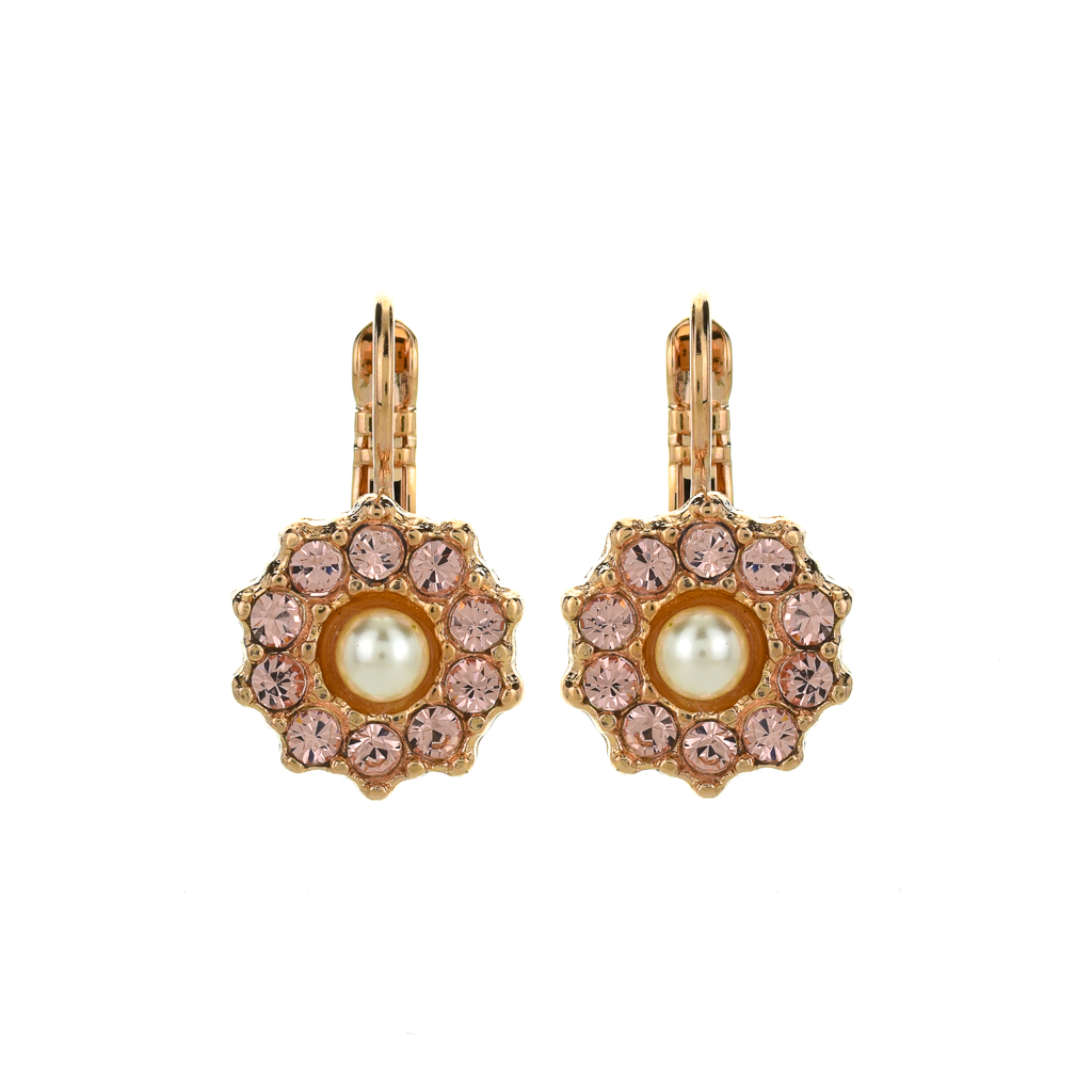 "Lovable Rosette Leverback Earrings in ""Romance"" *Preorder*"