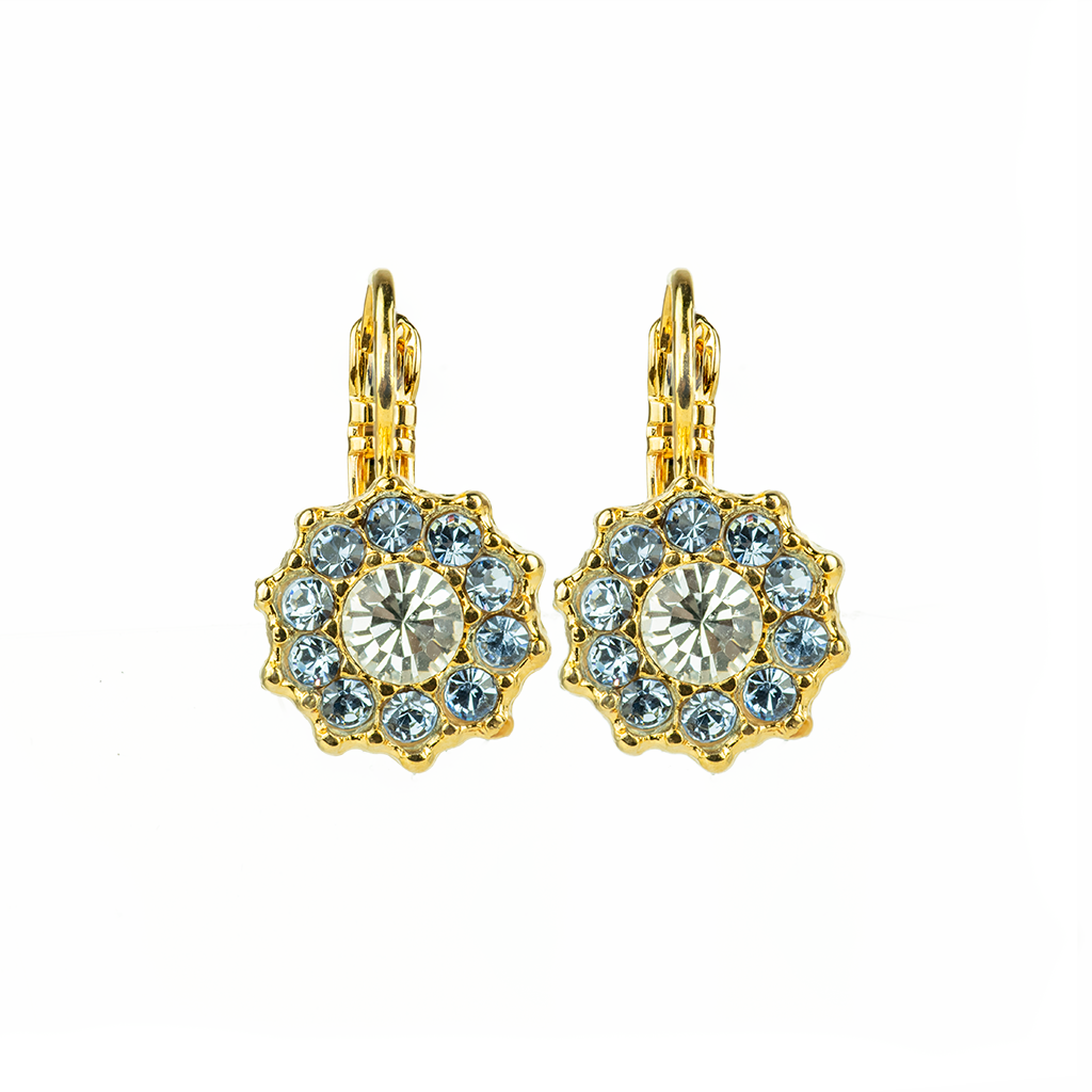 "Lovable Rosette Leverback Earrings in ""Night Sky"" *Preorder*"