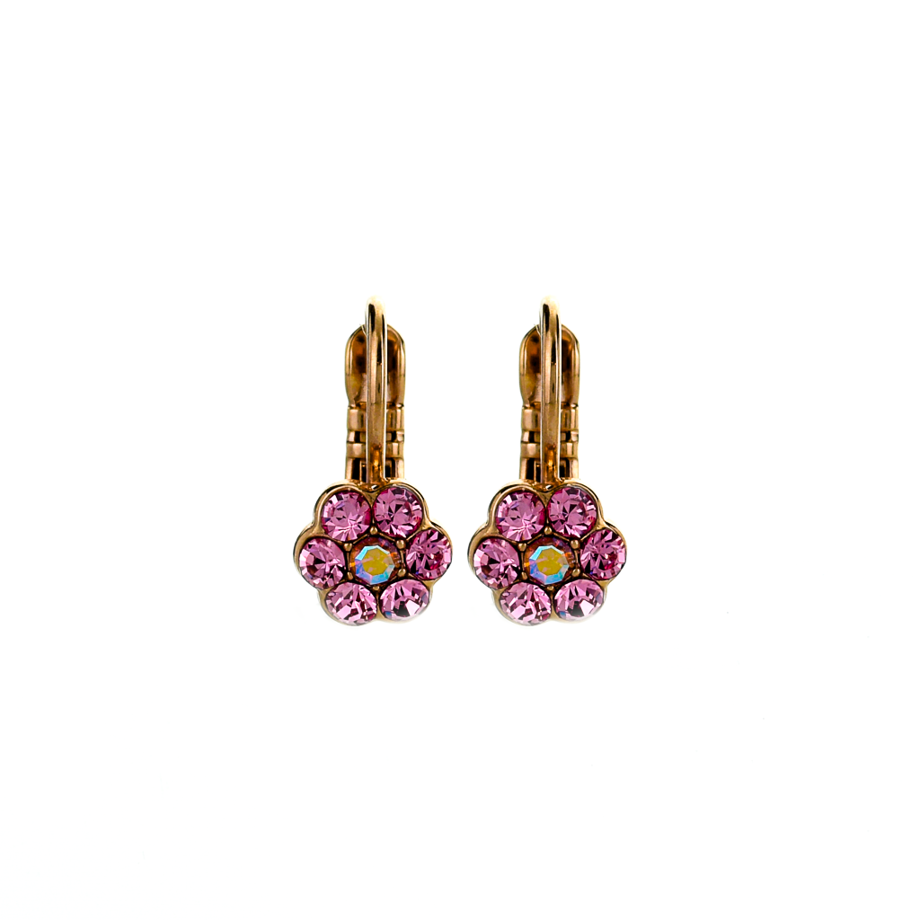 "Petite Flower Leverback Earrings in ""Love"" *Preorder*"