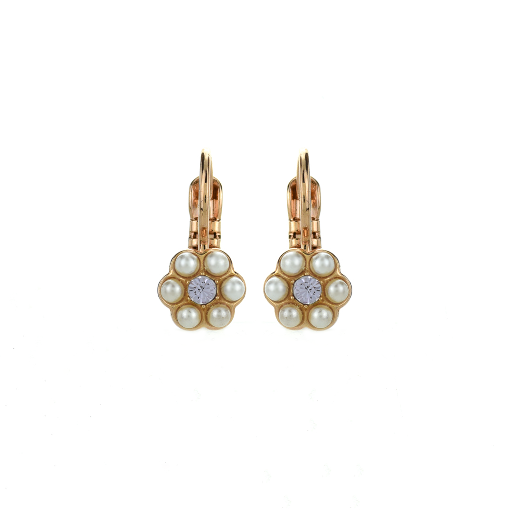 "Petite Flower Leverback Earrings in ""Romance"" *Preorder*"