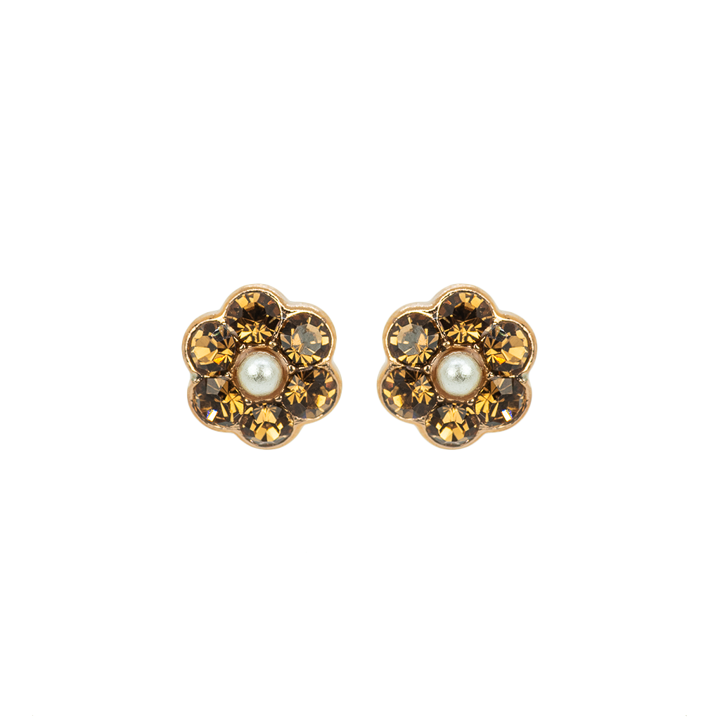 "Petite Flower Post Earrings ""Champagne & Caviar"" *Preorder*"