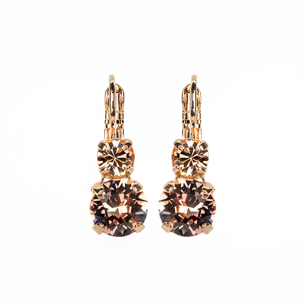 "*Preorder* Must-Have Everyday Double Stone Leverback Earrings in ""Meadow Brown"""