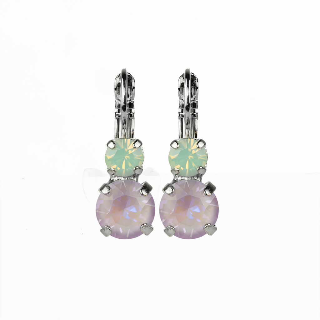 "*Preorder* Must-Have Everyday Double Stone Leverback Earrings in ""Travelara"""