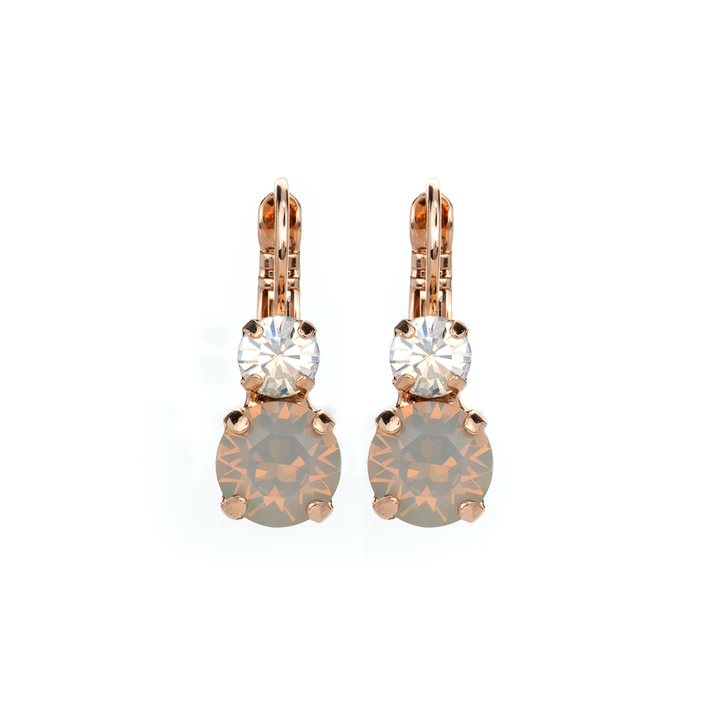 "Must-Have Double Stone Leverback Earrings in ""Peace"" *Preorder*"
