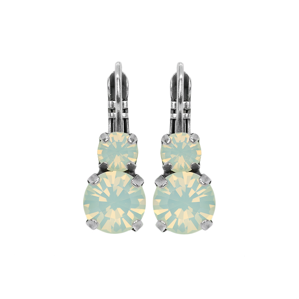Must-have Double Stone Earrings in White Opal *Preorder*