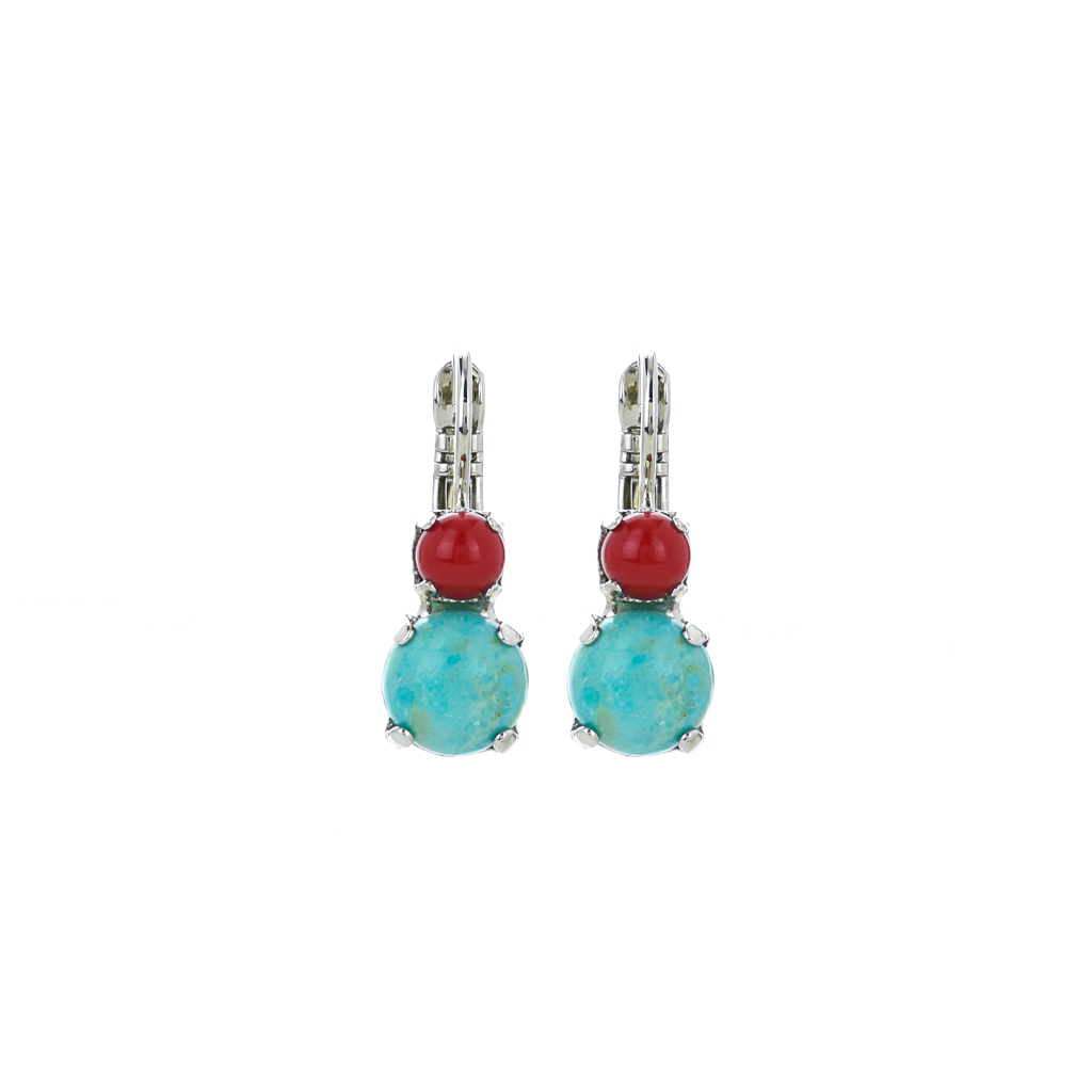 "Must-Have Double Stone Leverback Earrings in ""Happiness-Turquoise"" *Preorder*"