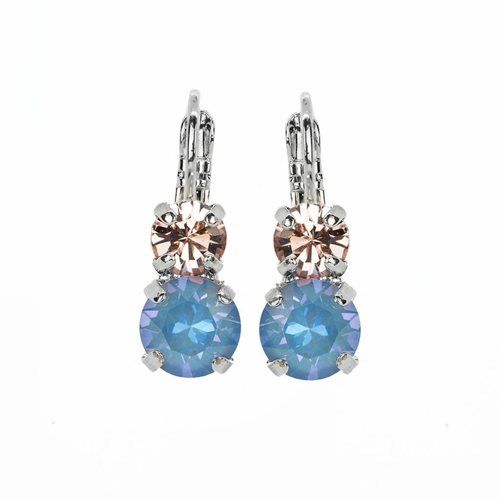 "*Preorder* Everyday Leverback Earrings in""Blue Morpho"""