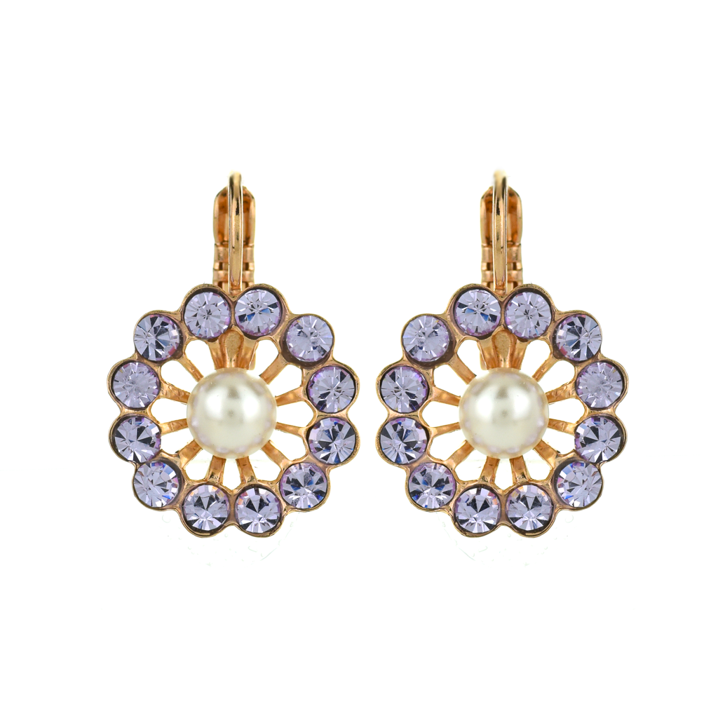 "Large Flower Leverback Earrings in ""Romance"" *Preorder*"
