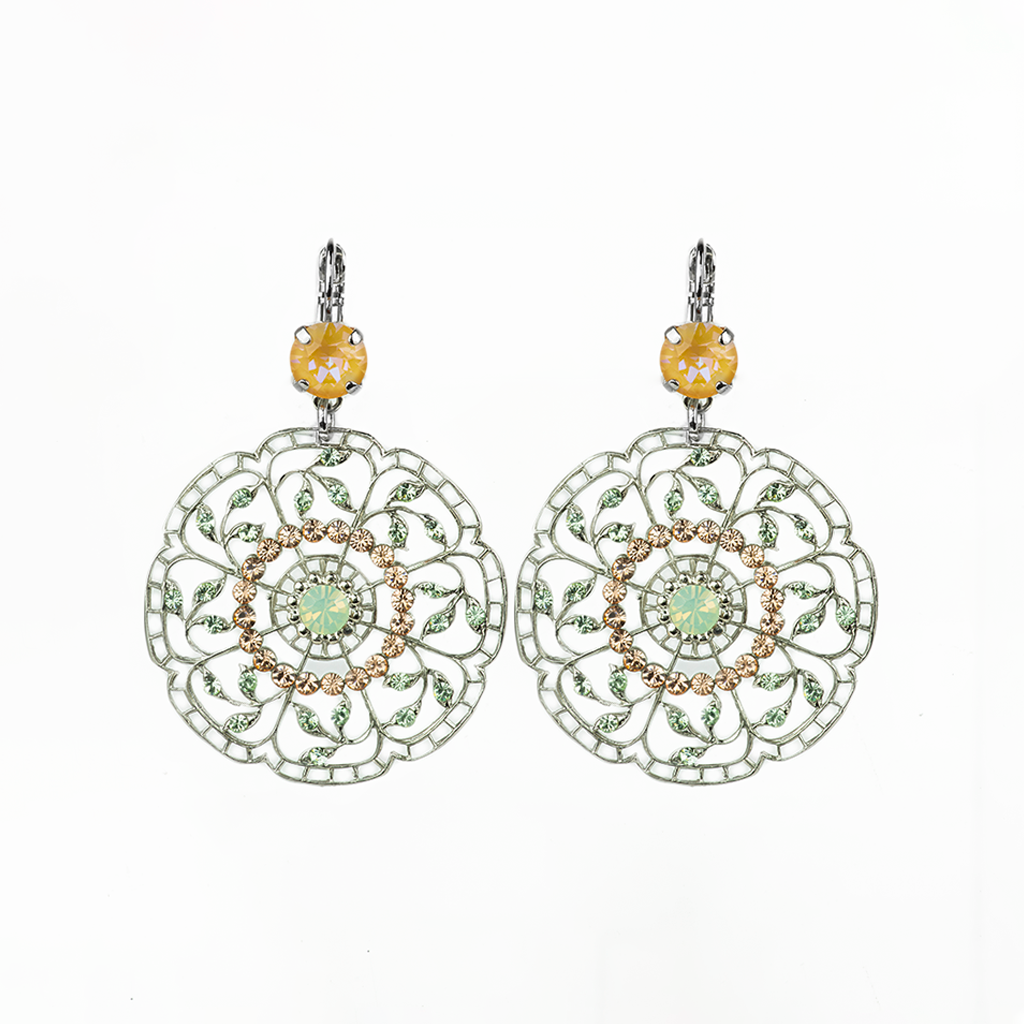 "Filigree Leverback Earrings in ""Monarch"" *Preorder*"