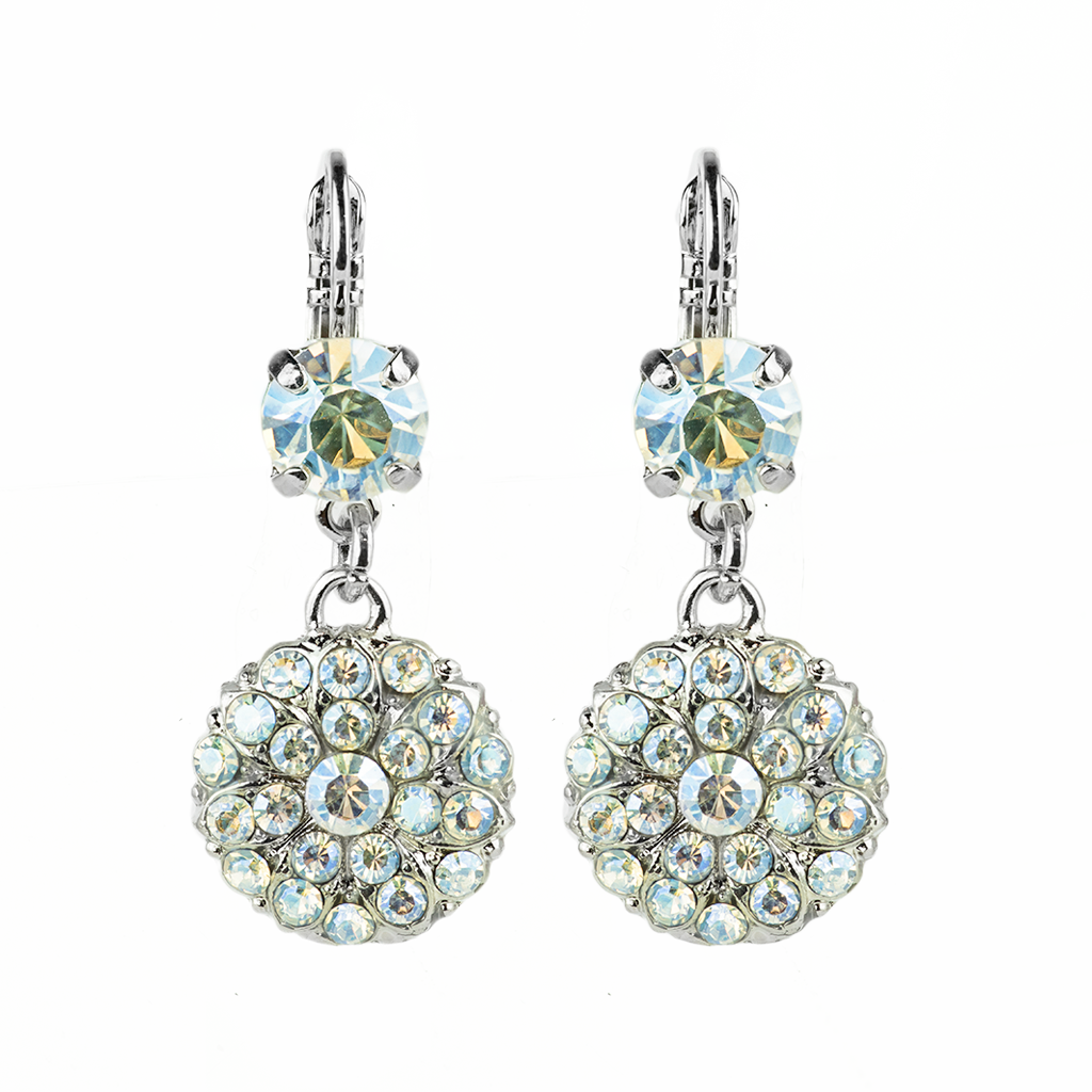 "Double Stone Guardian Angel Leverback Earrings in ""Crystal Moonlight"" *Preorder*"