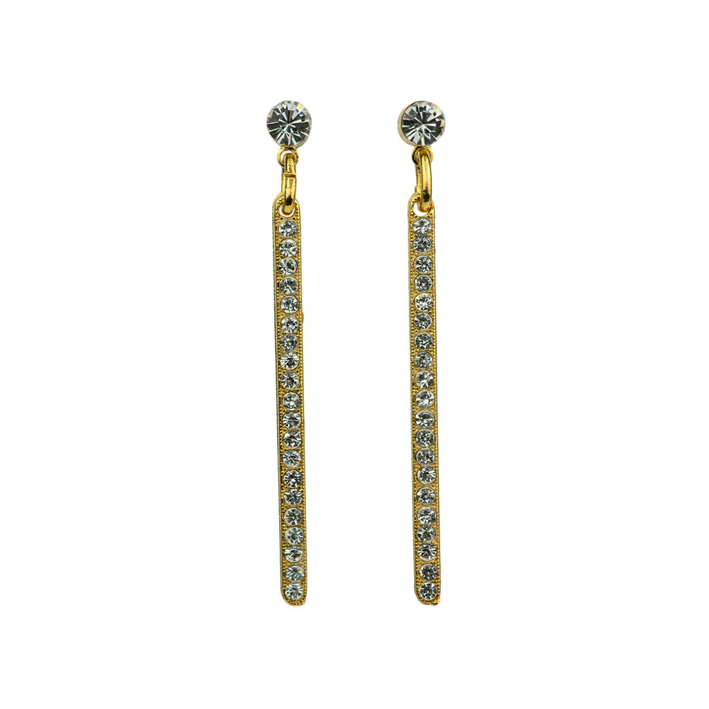 Petite Bar Post Earrings in On A Clear Day - Yellow Gold