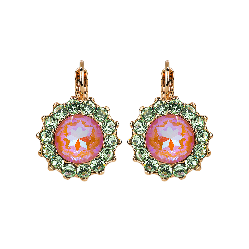 "Extra Luxurious Flower Leverback Earrings in ""Monarch"" *Preorder*"
