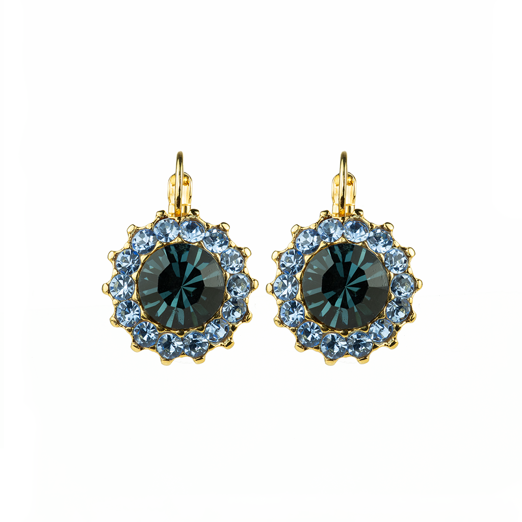 "Extra Luxurious Flower Cluster Leverback Earrings in ""Night Sky"" *Preorder*"