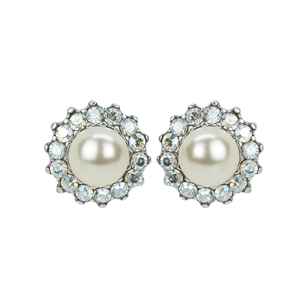 "Extra Luxurious Flower Bridal Post Earrings in ""Ivory"" *Preorder*"