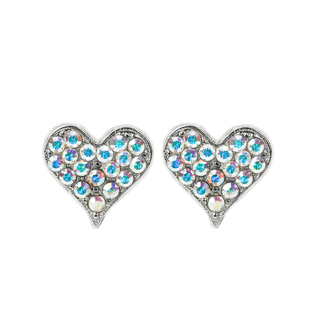 Embellished Heart Post Earrings *Preorder*