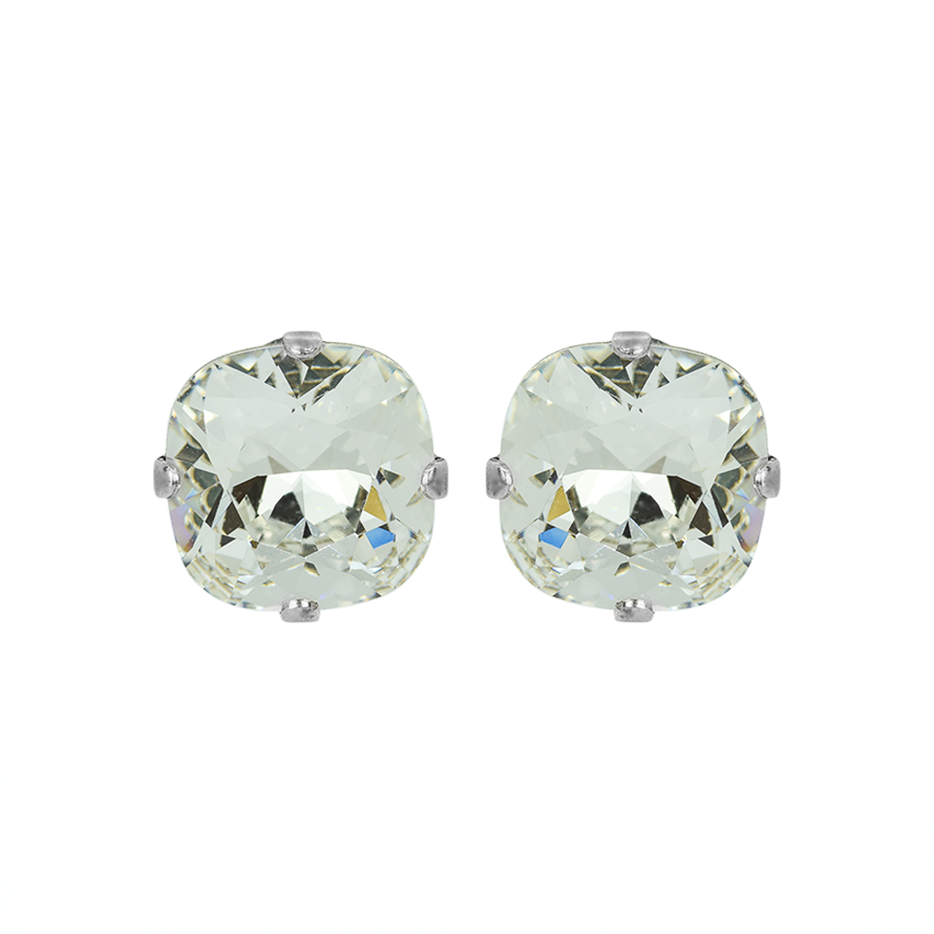 "Cushion Cut Bridal Post Earrings in ""On A Clear Day"" *Preorder*"