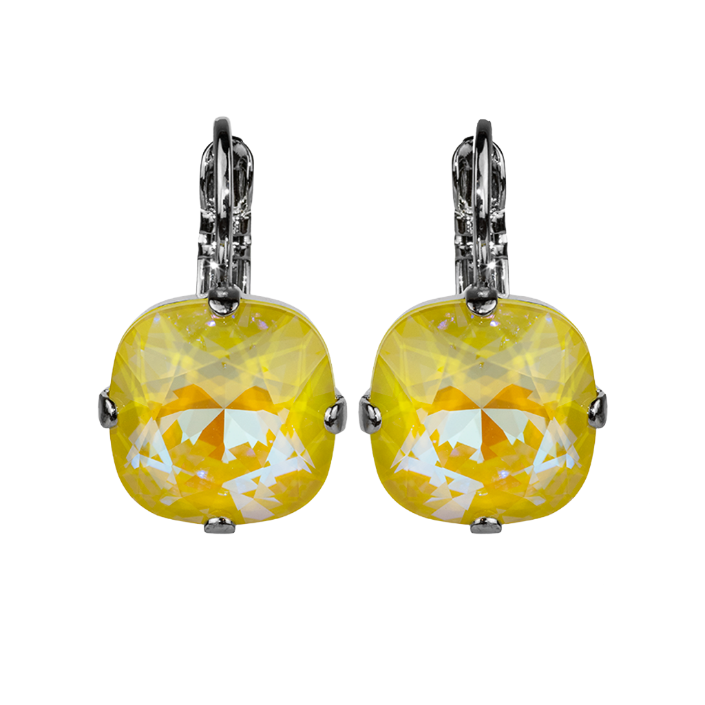 "Cushion Cut Leverback Earrings Sun-Kissed ""Sunshine"" *Preorder*"
