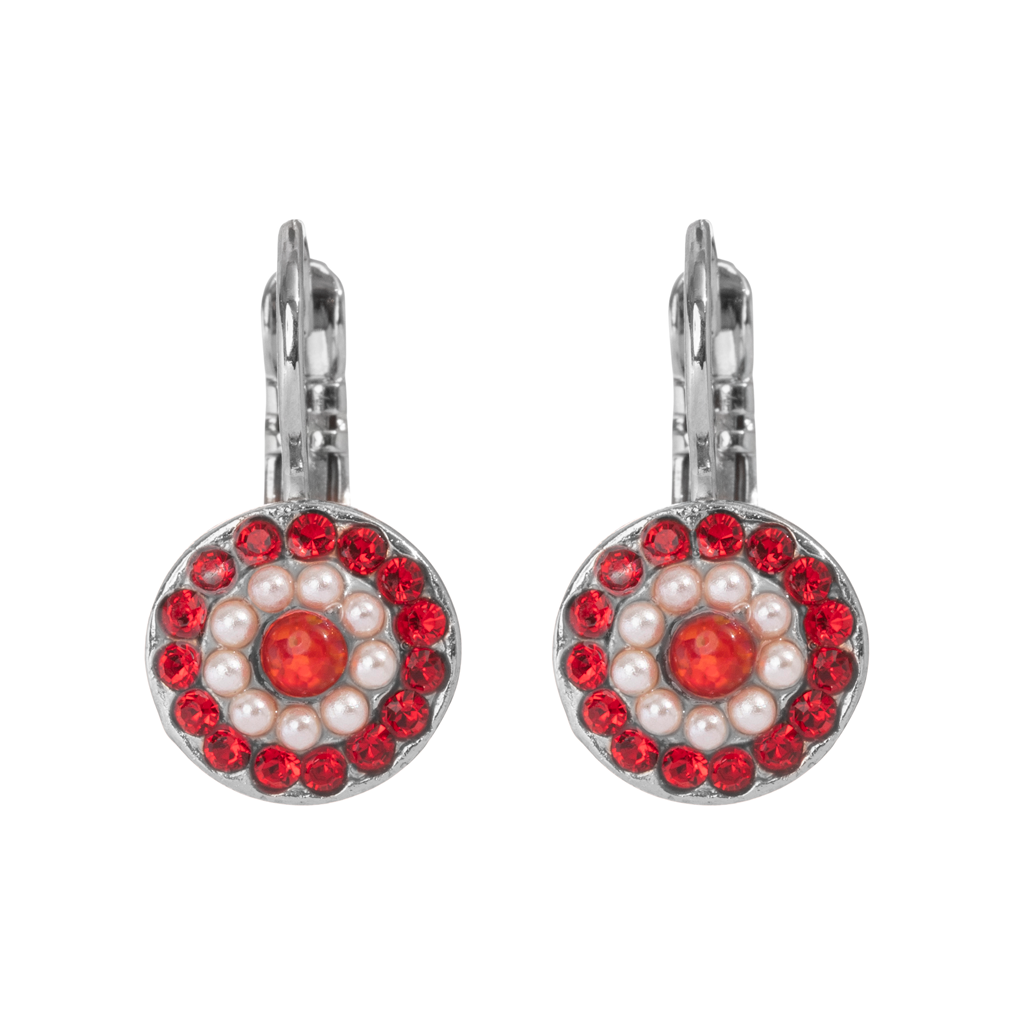"Must-Have Pave Leverback Earrings in ""Happiness"" - Rhodium"