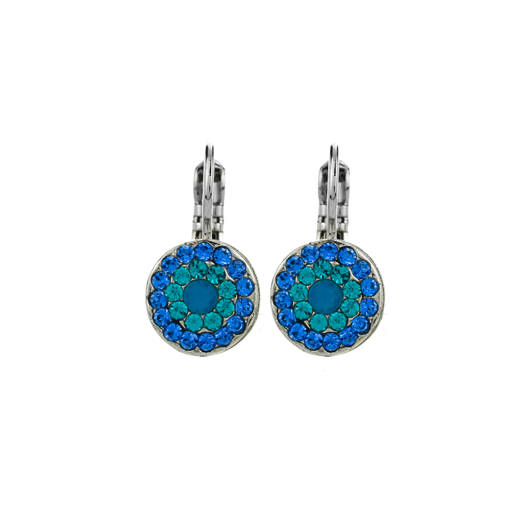 "Must-Have Pave Leverback Earrings in ""Serenity"" *Preorder*"