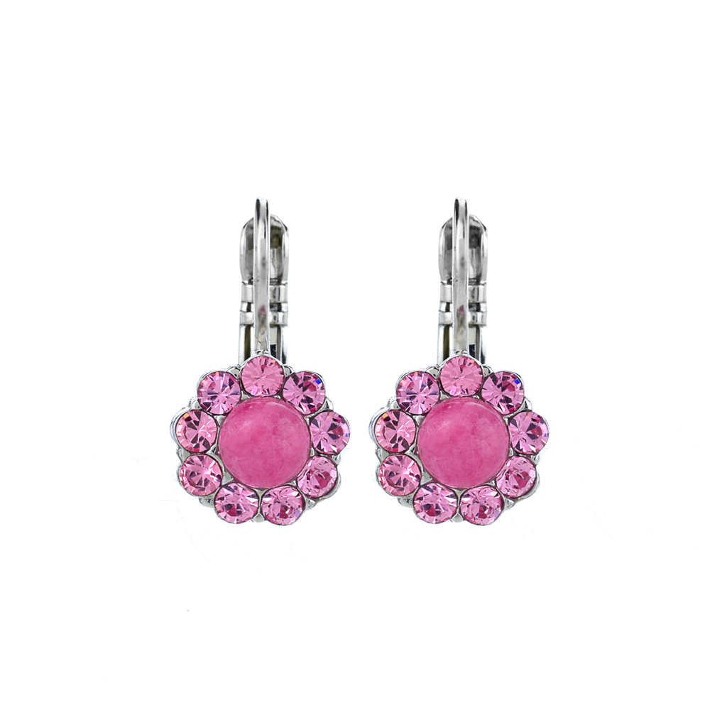"Must-Have Flower Leverback Earrings in ""Love"" *Preorder*"