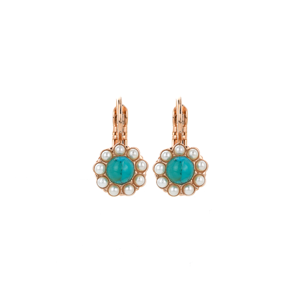 "Must-Have Flower Leverback Earrings in ""Happiness"" *Preorder*"