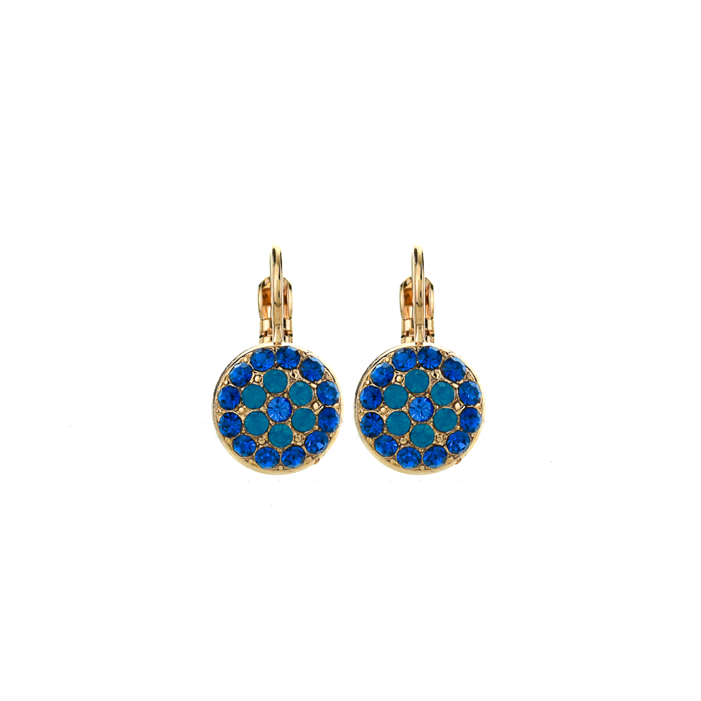 "Pavé Round Leverback Earrings in ""Serenity"" *Preorder*"