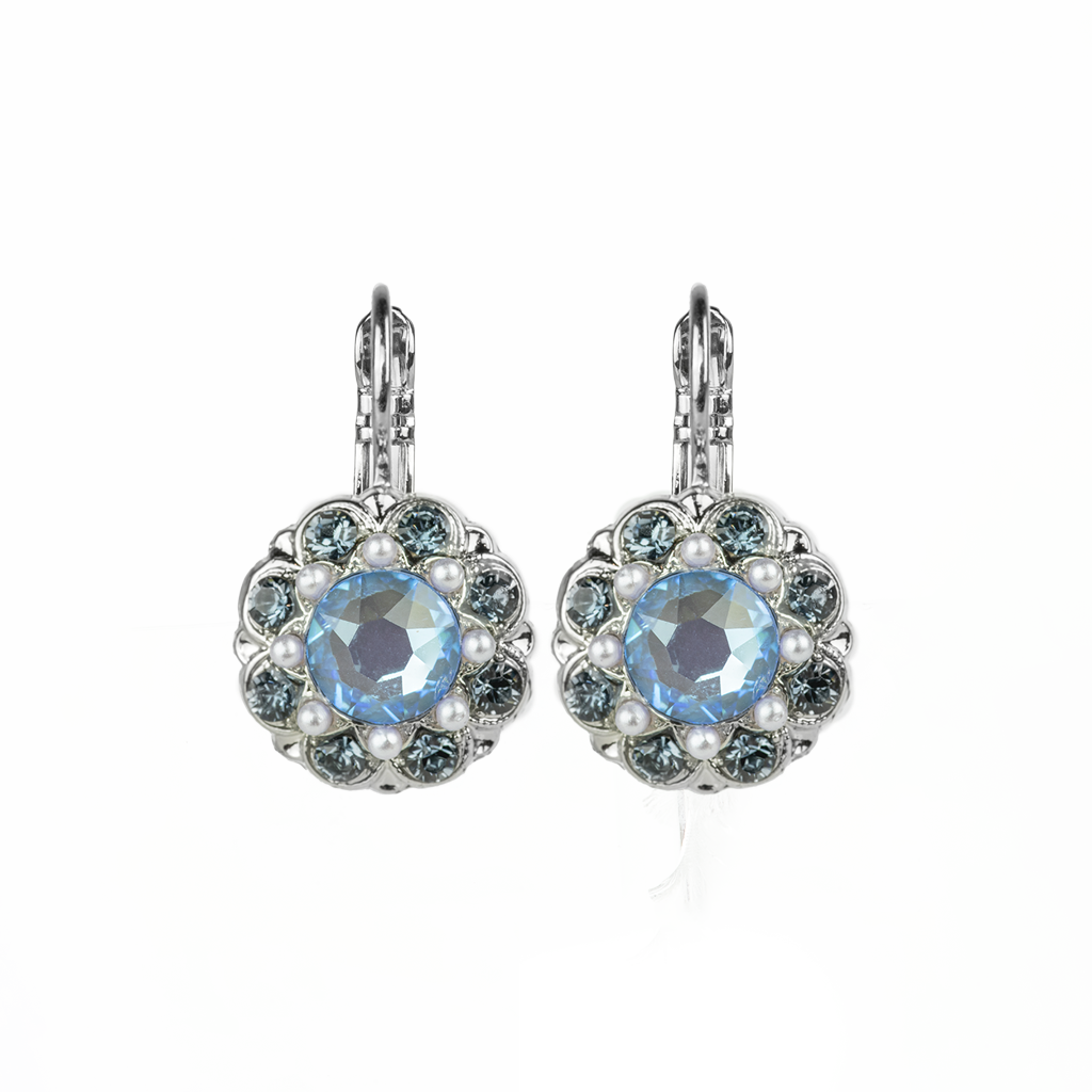 "Cluster Leverback Earrings in ""Blue Morpho"" *Preorder*"