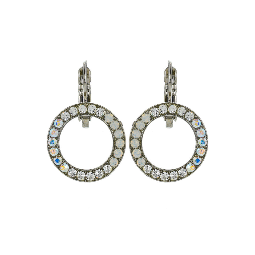 "Petite Open Circle Leverback Earrings in ""On a Clear Day"" *Preorder*"