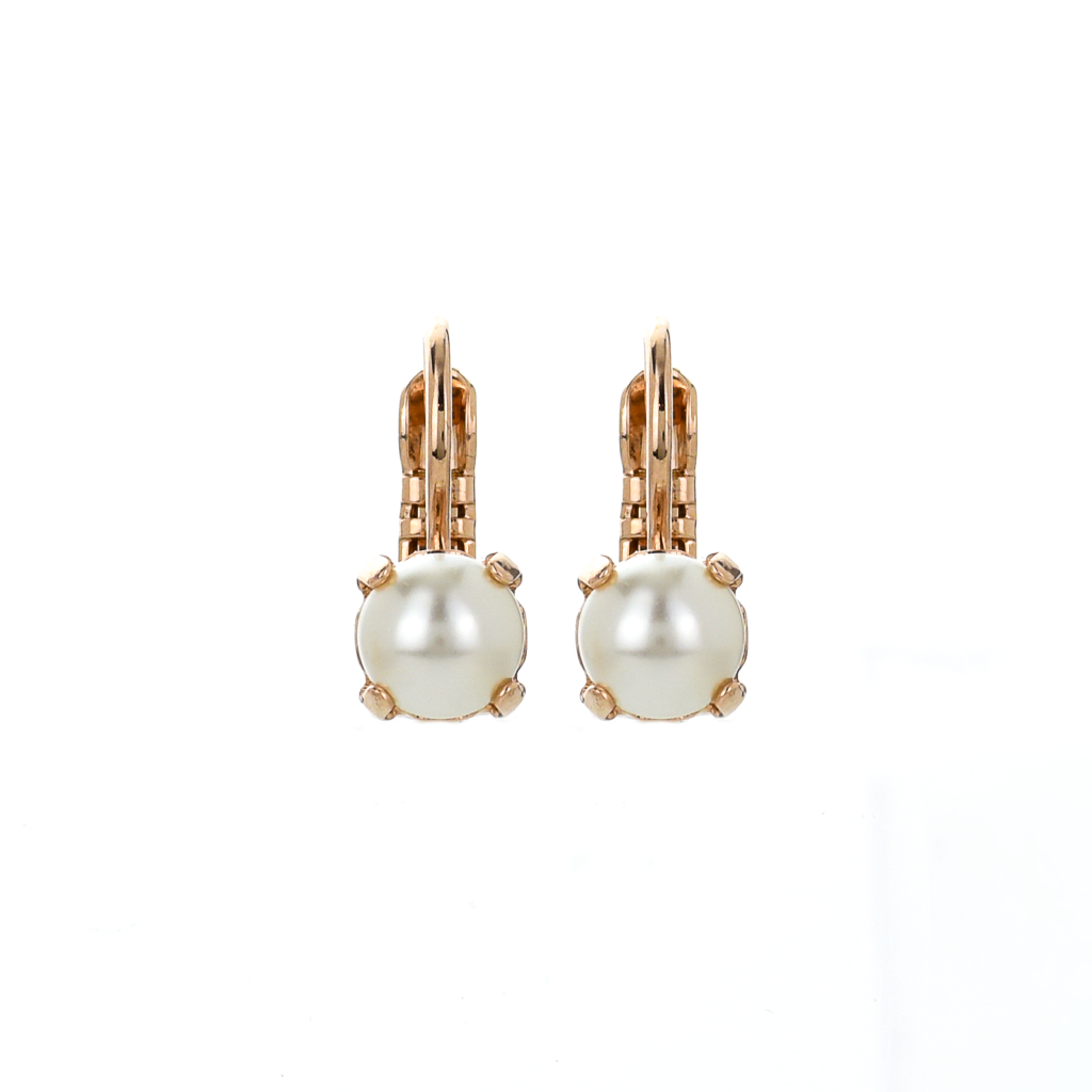 Petite Single Stone Pearl Leverback Earrings *Preorder*