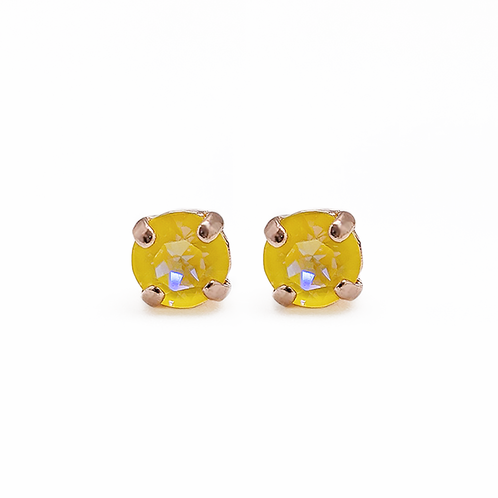 "*Preorder* Petite Single Stone Post Earrings in Sun-Kissed ""Sunshine"""