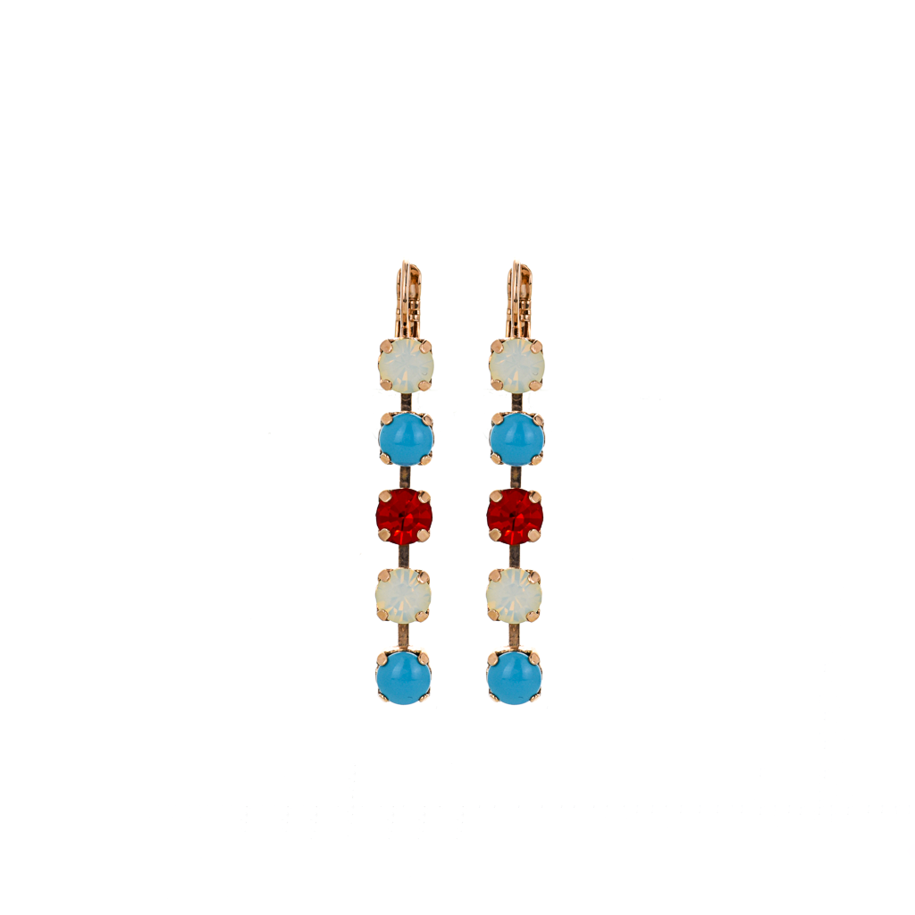 "Five Stone Leverback Earrings in ""Happiness"" *Preorder*"