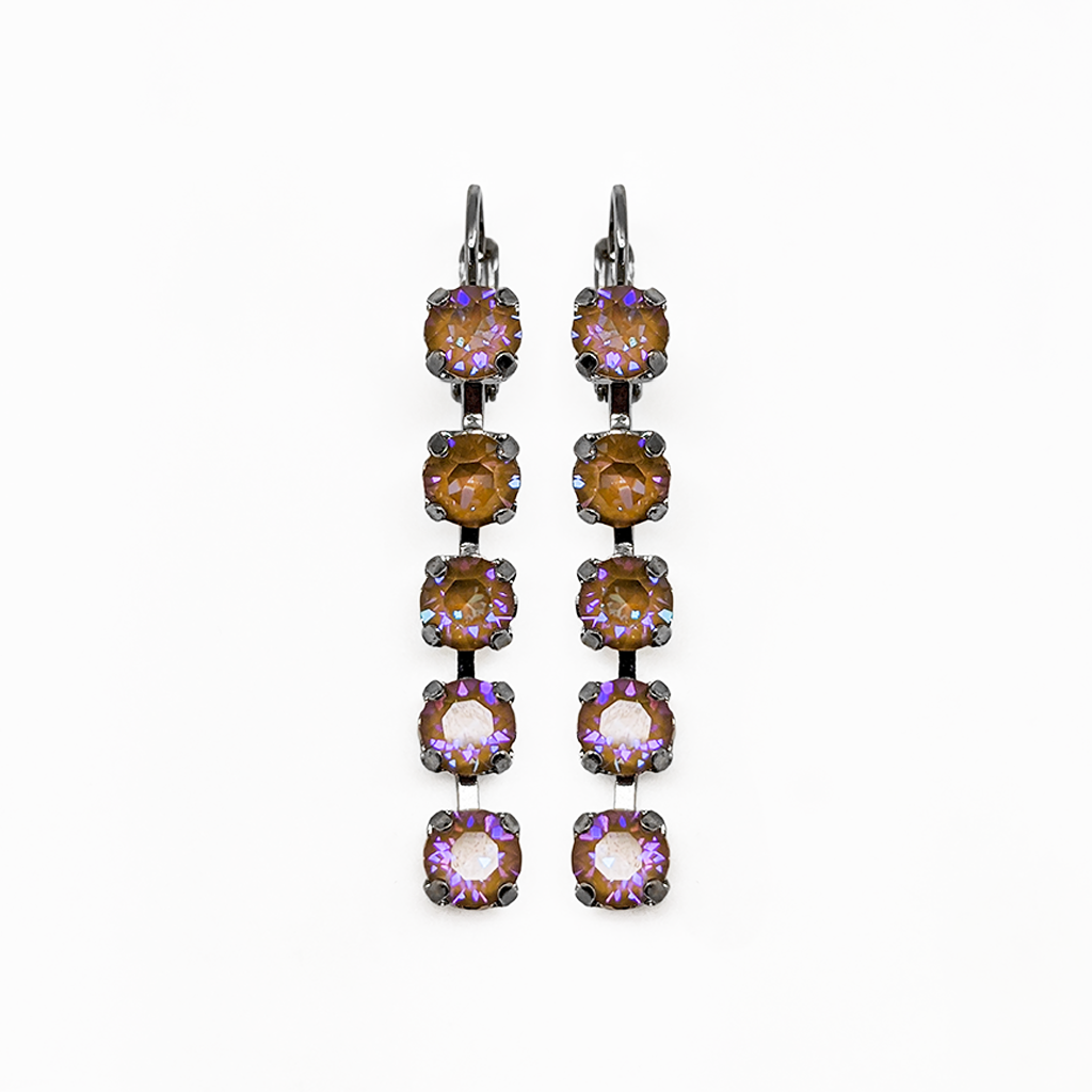 "*Preorder* Petite Five Stone Leverback Earrings in Sun-Kissed ""Horizon"""