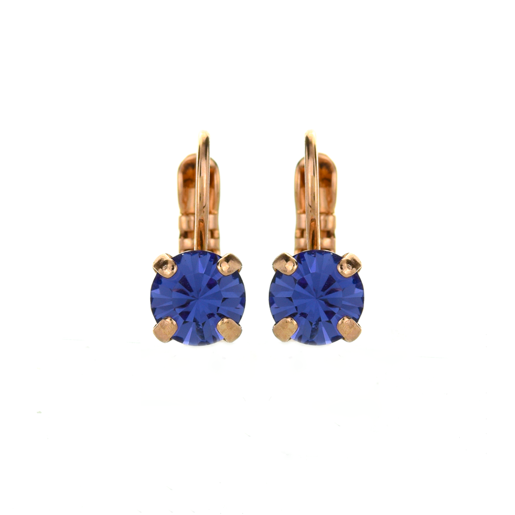 Petite Single Stone Leverback Earrings in Tanzanite *Preorder*