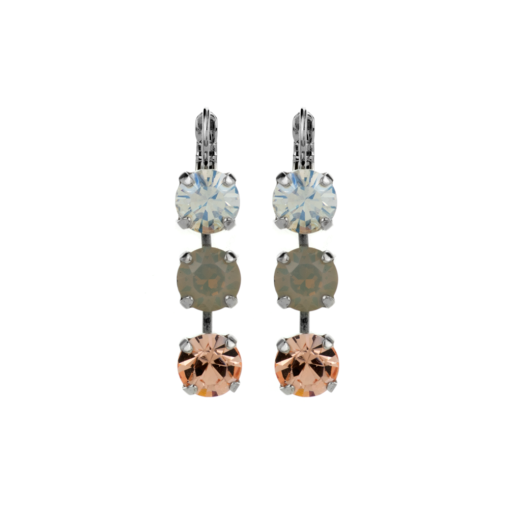 "Must-Have Three Stone Leverback Earrings in ""Peace"" *Preorder*"