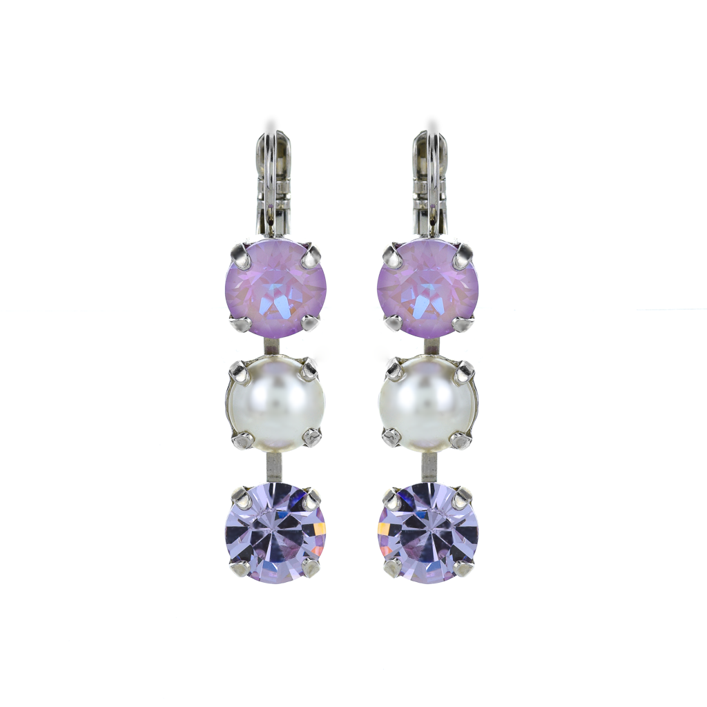 "Must-Have Three Stone Leverback Earrings in ""Romance"" *Preorder*"