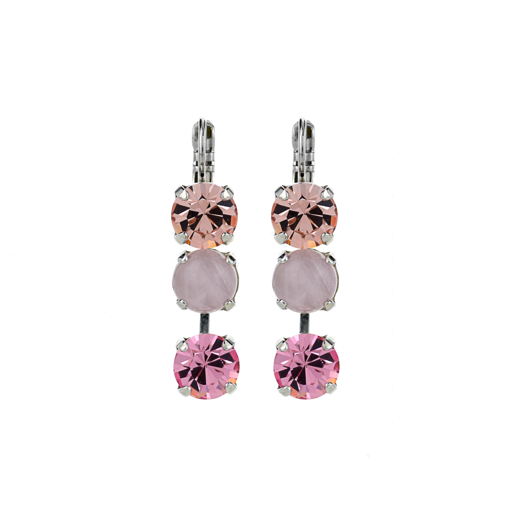 "Must-Have Three Stone Leverback Earrings in ""Love"" *Preorder*"