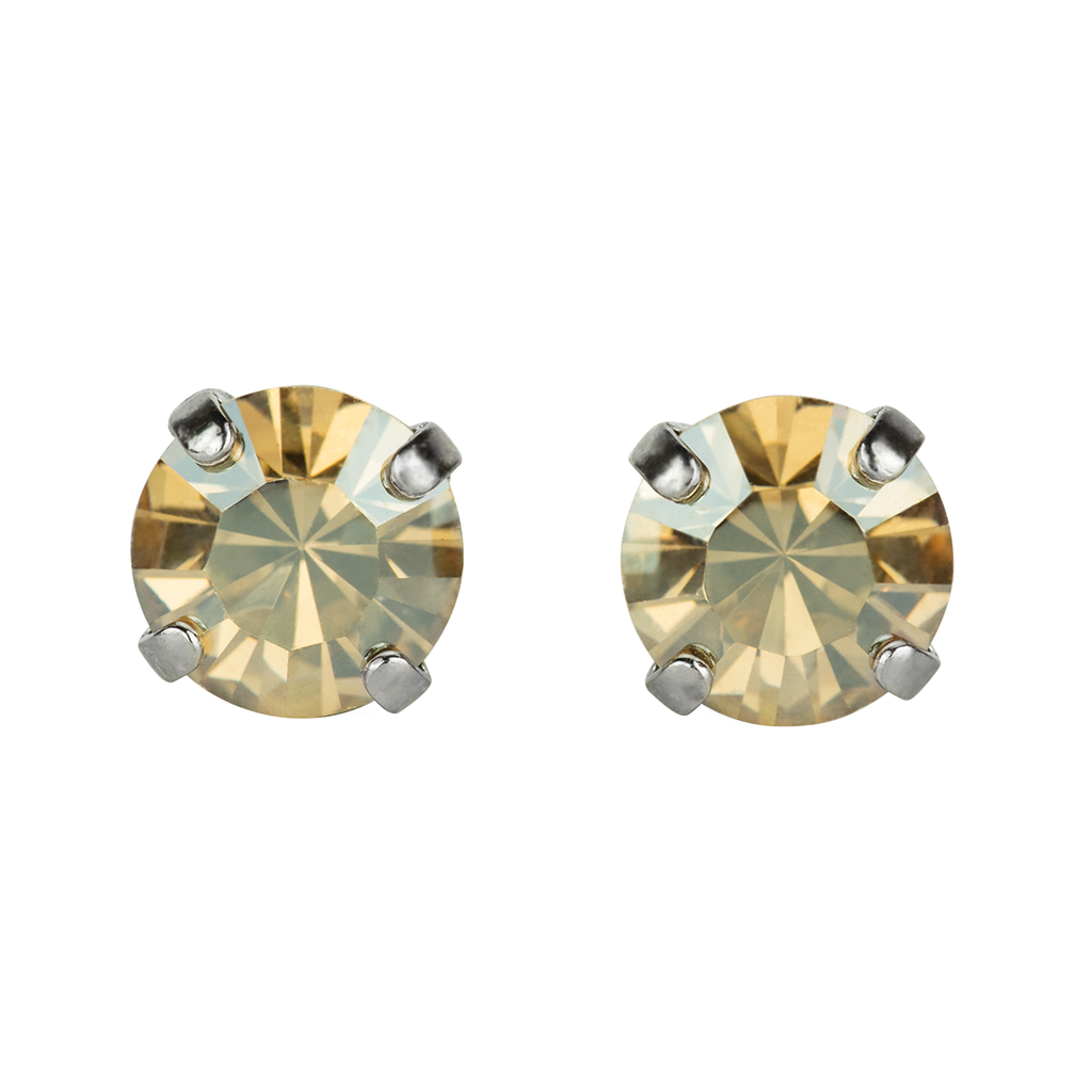 Rhodium Studs in Golden Shadow