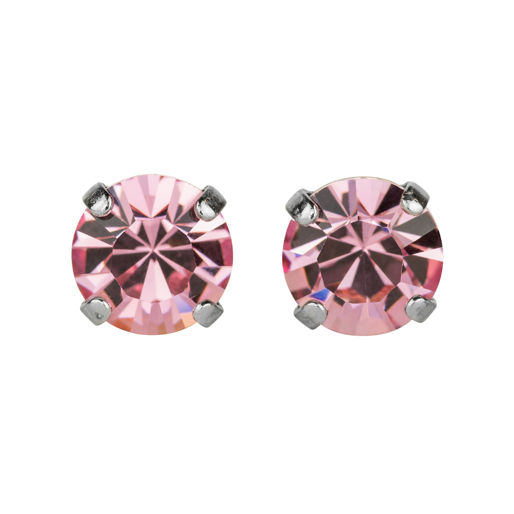 Rhodium Studs in Rose