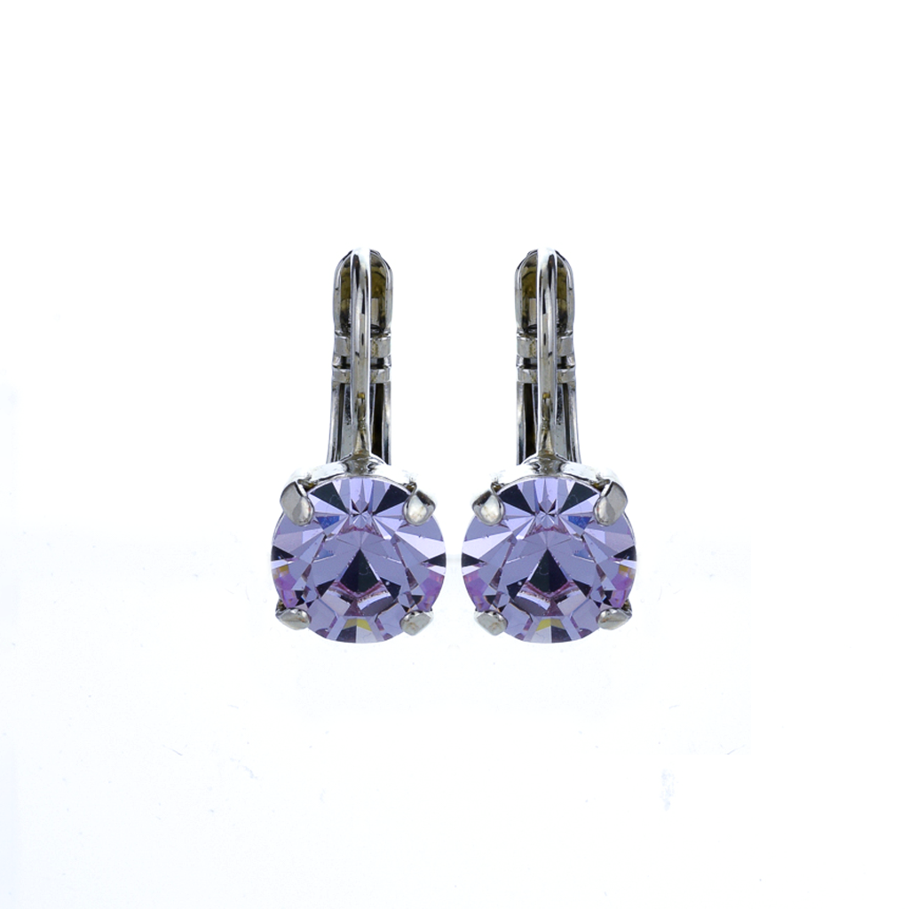 Must-Have Everyday leverback Earrings in Violet *Preorder*