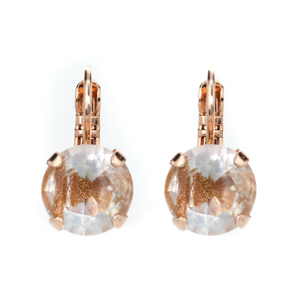 "Lovable Leverback Earrings in ""Hazelnut"" - Rose Gold"