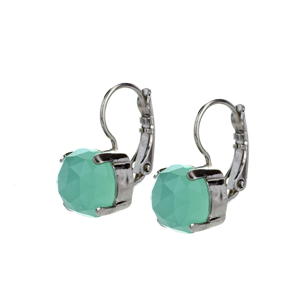 "Lovable Leverback Earrings in ""Green Quartz"" *Preorder*"